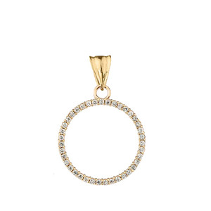 """""""Circle of Love"""" Pendant Necklace in 14K Yellow Gold"""