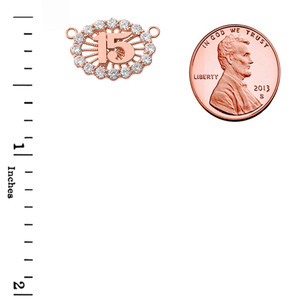 15 Quinceañera Necklace in 14K Rose Gold