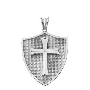 Crusader Shield in Sterling Silver