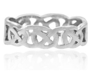 White Gold Quadrum Weave Ring for Women