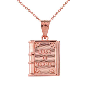 Book of Mormon Pendant Necklace in Yellow Gold