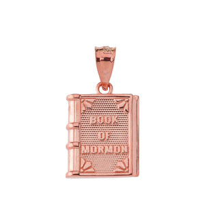 Book of Mormon Pendant Necklace in Rose Gold