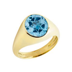 December Birthstone Gentleman's Pinky Ring