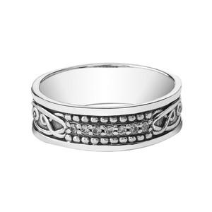 Celtic Knot 7 ½ mm. Vintage Wedding Band in Sterling Silver