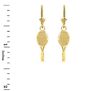 Solid 10k//14k Yellow Gold Flower Rose Diamond Cut Leverback Earrings Set