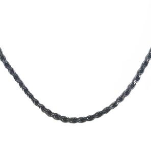 Antique Vintage Oxidized  3.5 mm Rope Chain