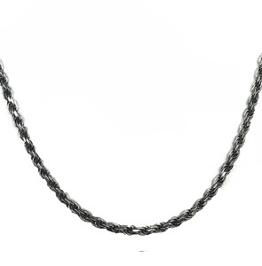 Antique Vintage Oxidized 4.5mm Rope Chain