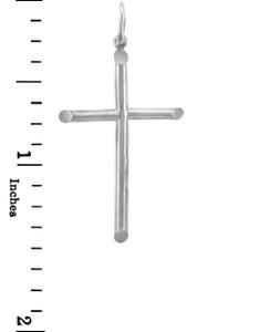 White Gold Crosses - Small Gold Cross Pendant