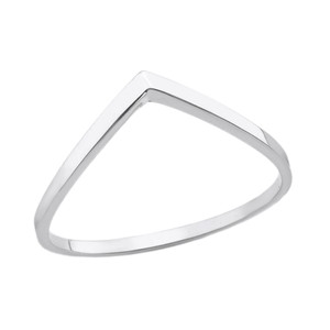Solid Gold Stackable V Shape Wish Ring