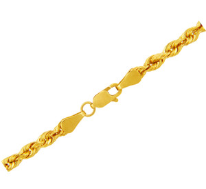 Gold Chains: Rope Solid Gold Chain 5mm