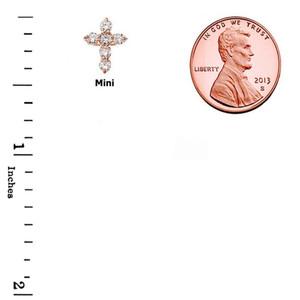 Rose Gold Cross Elegant Pendant Necklace (Mini-Small)
