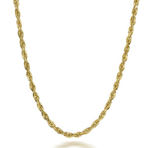 Gold Chains: Rope Solid Gold Chain 3mm