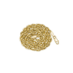 Gold Chains: Rope Solid Gold Chain 2.5mm