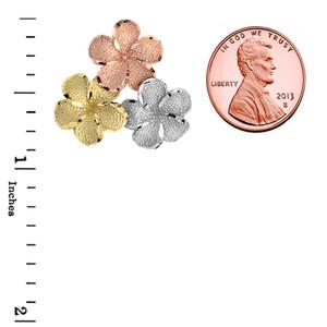 Plumeria Flowers in Tri Color Gold