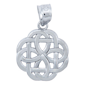 925 Sterling Silver Triquetra Celtic Trinity Pendant Necklace