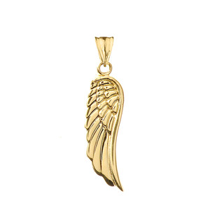 Angel Wings Pendant Necklace In Gold (Yellow/Rose/White)