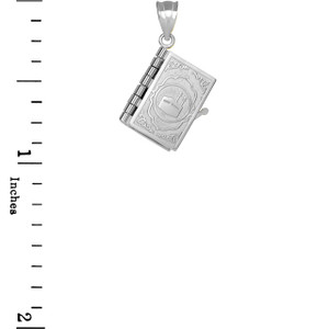 3D Moveable Koran Pendant Necklace in .925 Sterling Silver