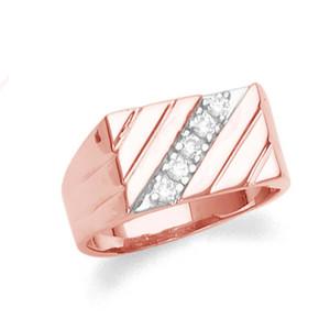 Mens Rose Gold Diamond Ring