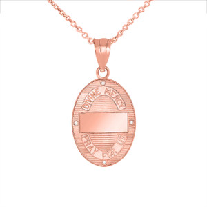Divine Mercy Oval Medallion with Diamonds Pendant Necklace in Gold (Yellow/Rose/White)