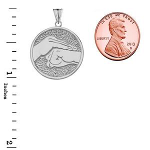 Bao Quan Martial Arts Hand Symbol Pendant Necklace In Sterling Silver