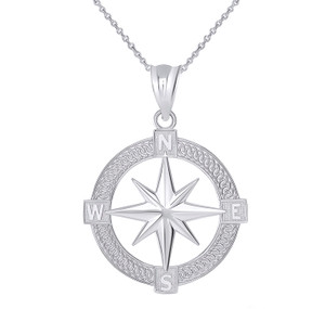 Mystical North Star Pendant Necklace in Sterling Silver