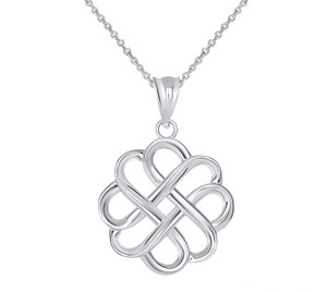 Intricate Celtic Knot Pendant Necklace in Sterling Silver