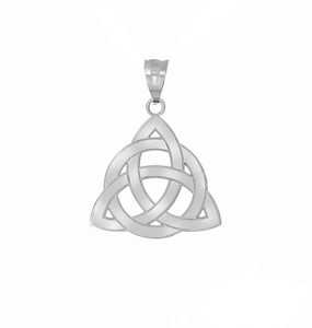 Celtic Knot Triquetra Pendant Necklace in Sterling Silver