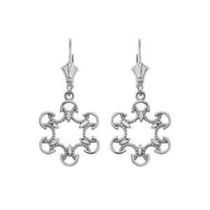 Openwork Filigree Leverback Earrings in Sterling Silver