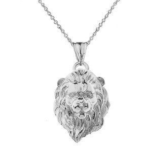 handmade pendant leo animal pendant sterling silver lion head silver lion Lion Head Necklace With A Thin Chain animal necklace