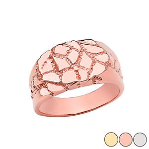Designer Nugget Ring in Gold (Yellow/Rose/White)
