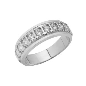 Men's Wedding Ring in Sterling Silver