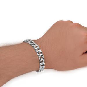 Cuban Link Bracelet 10.2mm In Sterling Silver