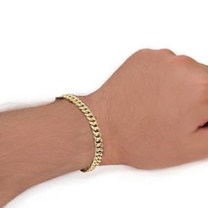 Cuban Link Bracelet 6.5mm In Gold (Yellow/Rose/White)