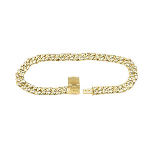 Cuban Link Bracelet 5.6mm In Gold (Yellow/Rose/White)