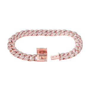 Cuban Link Bracelet 10.5mm In Gold (Yellow/Rose/White)