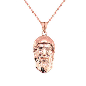 Saint Charbel/Sharbel Makhlouf Pendant Necklace in Gold (Yellow/Rose/White)