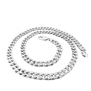 Sterling Silver Handmade Cuban Link Necklace 7.85mm