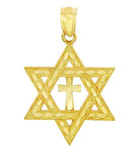 Jewish Charms and Pendants - Star Cross of David