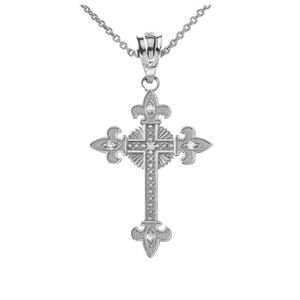 Saint Cross Pendant Necklace in Sterling Silver