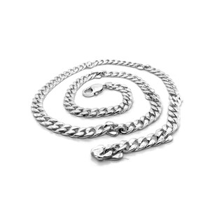 Sterling Silver Handmade Cuban Link Necklace 6.9mm