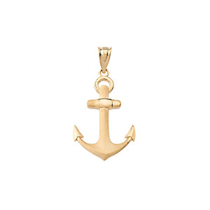 Nautical Anchor Pendant Necklace in Gold (Yellow/Rose/White)