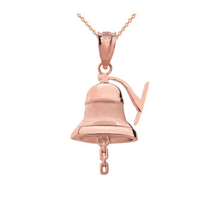 Gold Bell Pendant Necklace (Yellow/Rose/White)