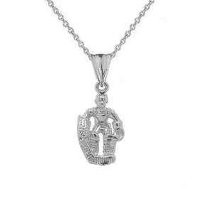 3D Hockey Goalie Pendant Necklace in Gold (Yellow/Rose/White)