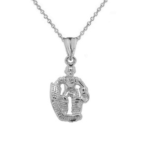 3D Hockey Goalie Pendant Necklace in Sterling Silver