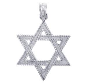 Jewish Pendants - Star of David Silver Pendant