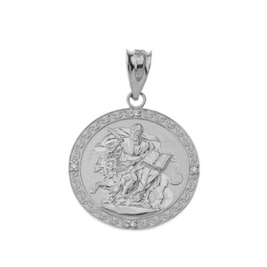 Saint Mark in Sterling Silver Pendant Necklace
