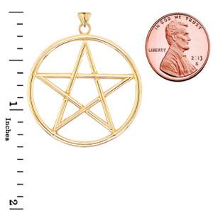 Large Pentagram Pendant in Gold (Yellow/Rose/White)