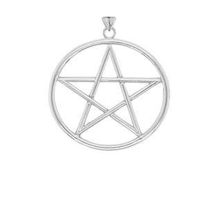 Large Pentagram Pendant in Sterling Silver