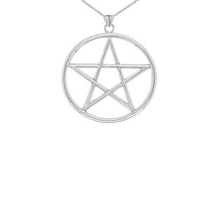 Small Pentagram Pendant in Sterling Silver
