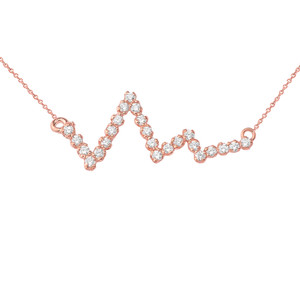 Heart Beat Necklace in Gold (Yellow/Rose/White)